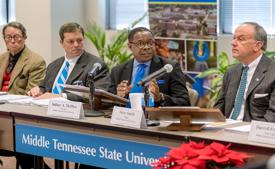 Board of Trustees approves 5-year contract for McPhee, expands Regional Scholars Program