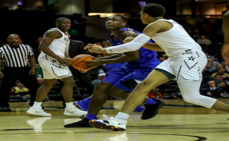 Men's Basketball: Blue Raiders drop fifth straight game in blowout loss at Vanderbilt