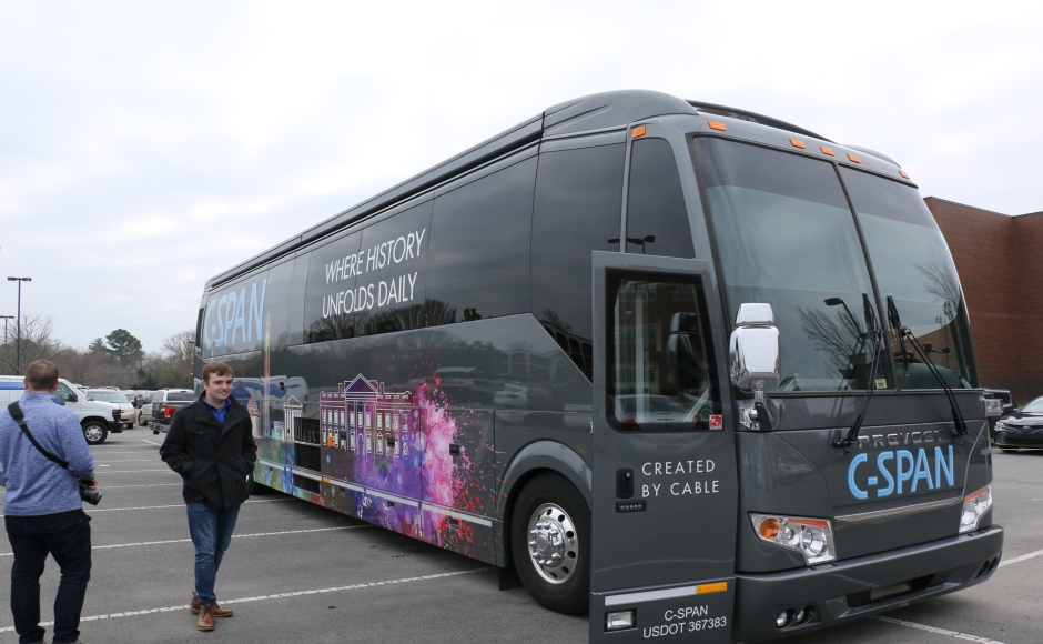 Photos: C-SPAN Bus visits MTSU, delivers interactive media experience to students
