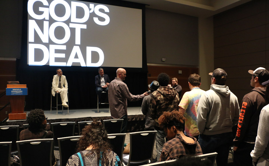 'God's Not Dead' tour visits MTSU campus, author Rice Broocks defends evidence for existence of God