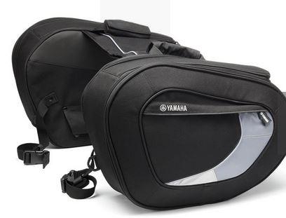 Zachte zijtassen van Yamaha, 189 euro. Opgelet, je hebt ook de houders nodig - beschikbaar voor heel wat Yamaha's. Kijk bij de accessoires van Yamaha.
