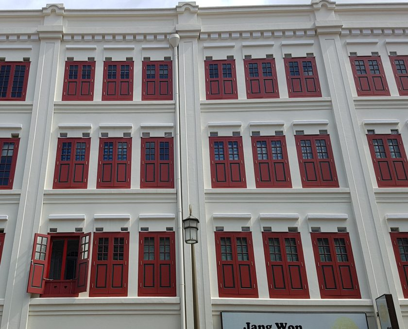 A Singapore shop house building