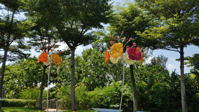 Sentosa glass flower art installation