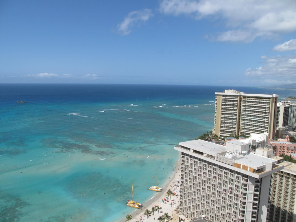 View from our balcony Hyatt Regency Waikiki