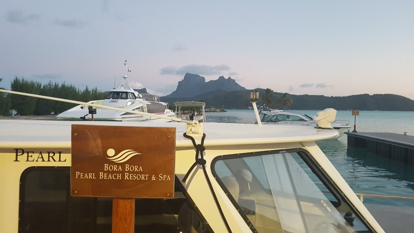 Bora Bora Pearl Beach Resort boat for the transfer