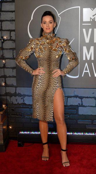 La alfombra roja de los VMAs 2013 - Katy Perry hacía honor a su nuevo single con un vestido estampado de Hungaro