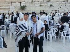 Danial and Ephraim at the Kotel