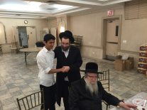 Rabbi Friedman with one of our students