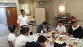 Michael Y, giving a speach at the siyum