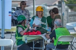 Volunteer Coordinator in Staging Area - photo by Martha Benedict