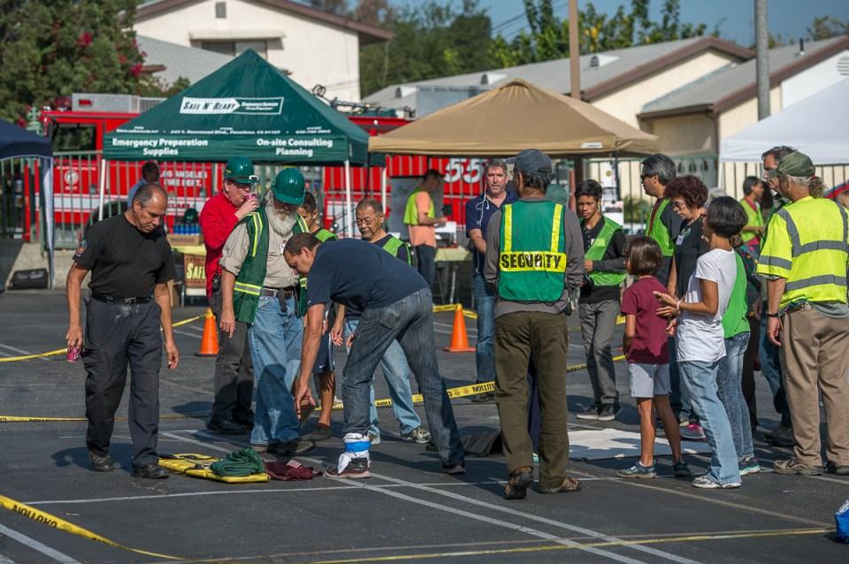 Stretcher Loading Demo - photo by Martha Benedict