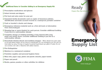 FEMA Emergency Supply List