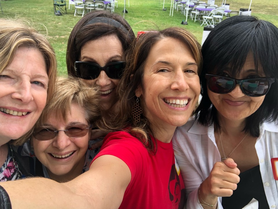 Sharal with other event organizers/board members 2016 Potluck in the Park