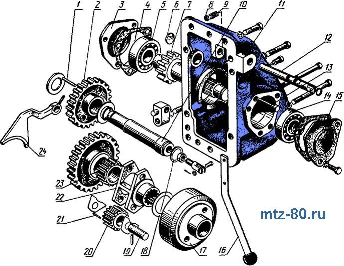 Ходоуменьшитель МТЗ-80/82, устройство, схема