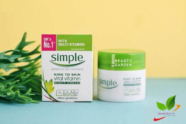 Kem dưỡng ẩm dành cho da nhạy cảm Simple Nourishing 24HR Day-Night