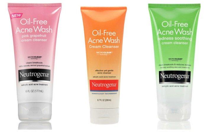 kem rua mat neutrogena oil free acne wash cream cleanser