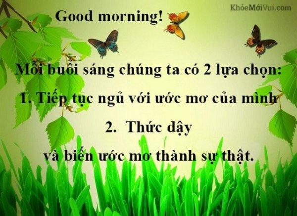 chào ngày mới tốt đẹp và ý nghĩa