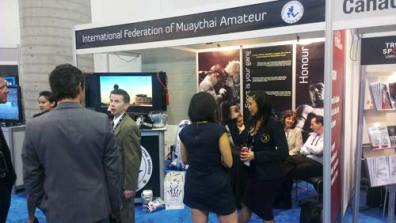 Action at the IFMA booth