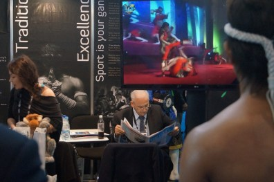 R. Froehlich reading at our booth