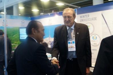 IFMA President Dr. Sakchye Tapsuwan with FISU President Claude-Louis Gallien