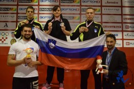 Hansel & Gretel on the podium with Team Slovenia