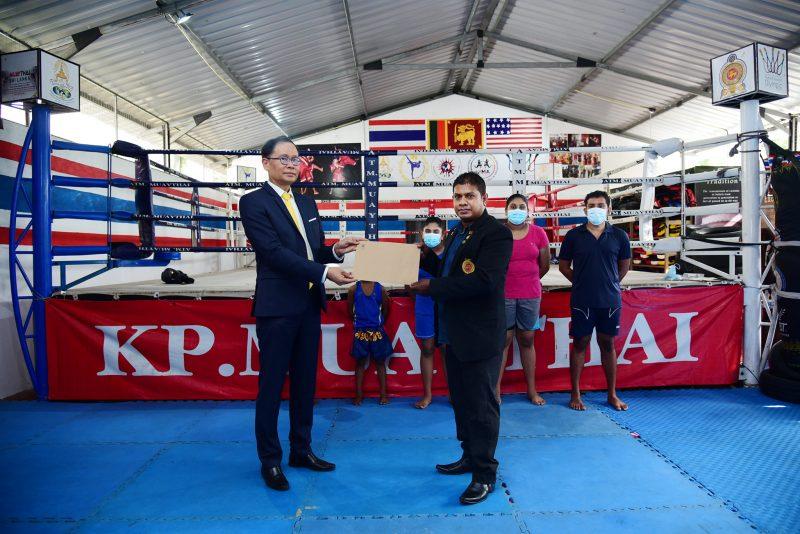 The Thai Ambassador to Sri Lanka Supports Muaythai