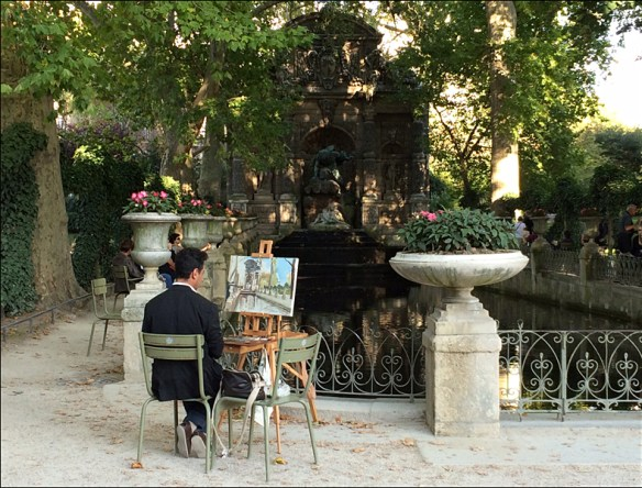Painter in the Jardin du Luxembourg; pic; Cynthia Rose