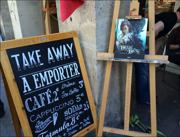 Looky and Dem signing outside Café Galerie aux Arts Etc; pic: Cynthia Rose