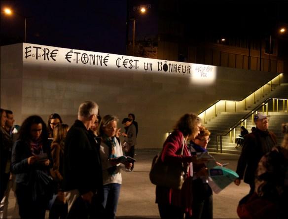 Jacques Villeglé's piece outside Gare d'Austerlitz; pic: Steve Sampson
