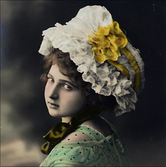 Catherinette in bonnet; French carte postale