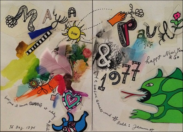 Christmas card, Niki de Saint Phalle; pic: Cynthia Rose