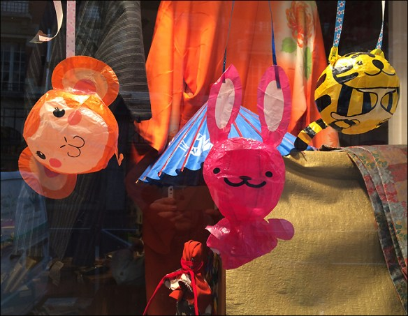 Balloons in Japanese store, 11th arrondisement, pic: Cynthia Rose