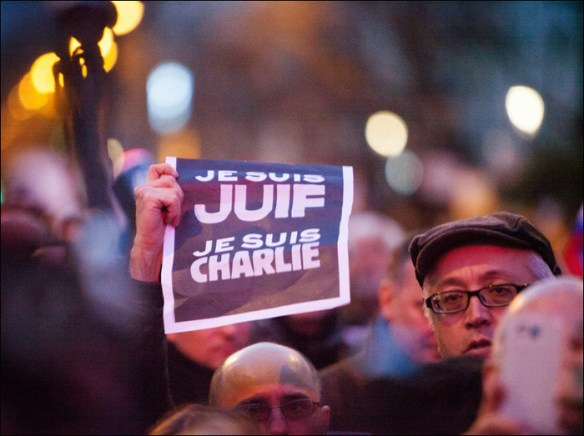 """I am a Jew, I am Charlie""; pic: Jean-Baptiste Gurliat/Mairie de Paris"