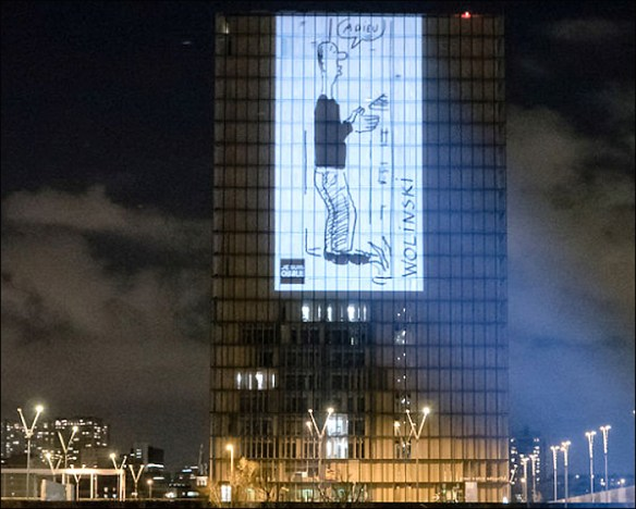 The Bibliothèque Nationale pays homage; pic: BNF
