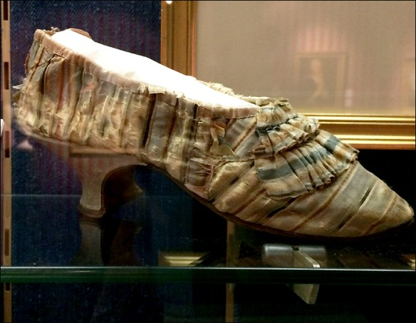 Slipper from the Fête de la Féderation, Musée Carnavalet; pic: Cynthia Rose