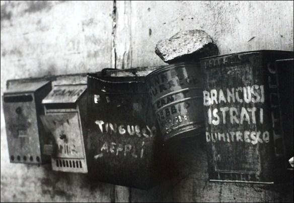 Detail, mailboxes at a shared studio © Robert Doisneau/L'Atelier Doisneau