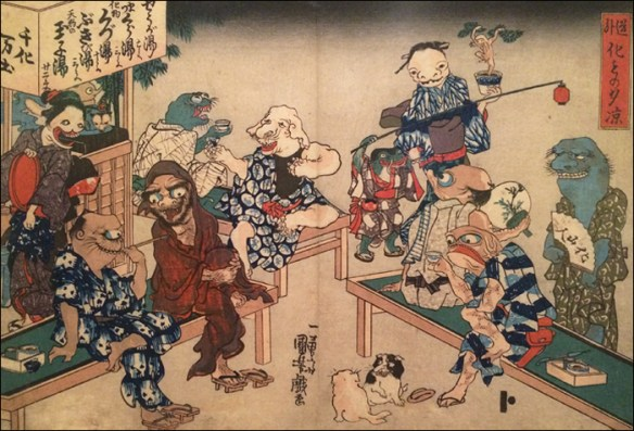 Some monsters relax on a pleasant night © Utagawa Kuniyoshi/Petit Palais