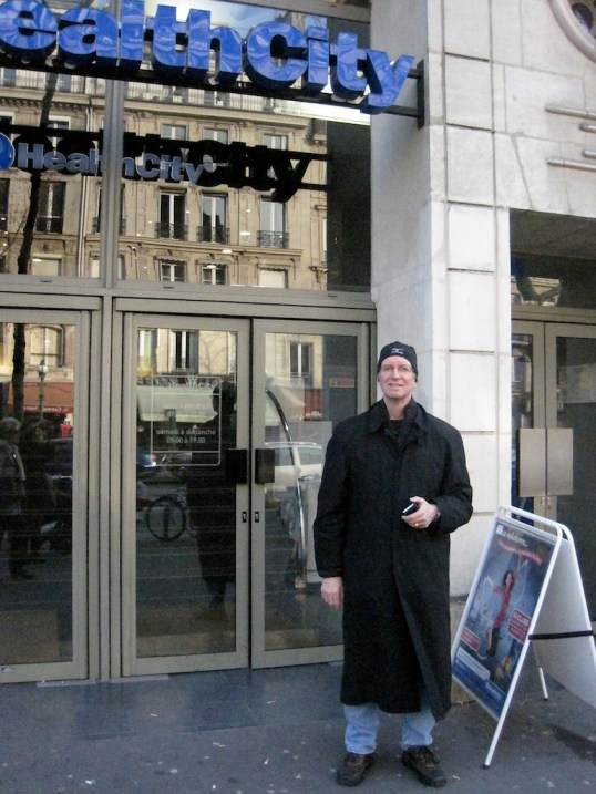 Hugh in front of Health City