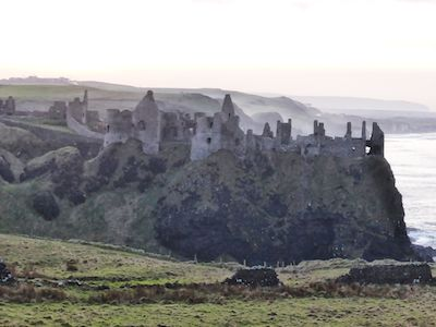 Ruins of the Norman's Dunluce Castle from the 14th century