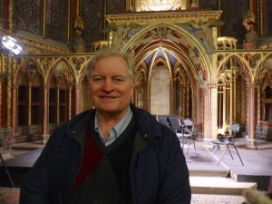 My brother Peter at a Christmas concert at Saint Chappelle