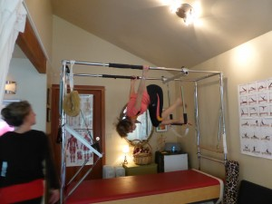My world upside down at Jo Carter's pilates studio