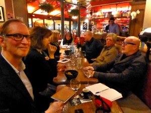 "Our group ""meet up"" at Lili et Riton in Montparnasse"