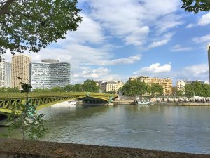 View across the Seine near the old Eisenhower apartment