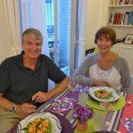 Carl Swanstrom and Linda Gagnier at our apartment in Paris.