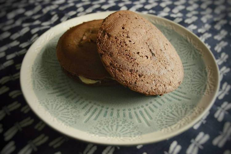 dorayakis de chocolate con anko blanco
