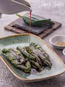 Green chilis as the main recipe? Unbelievably delicious and simple side dish. It's only 2 ingredients. Serve with warm rice.
