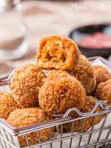 Spicy Chicken Balls, a copycat from McDonalds that turned out more delicious than the original. More tasty than chicken nugget packages from supermarket!