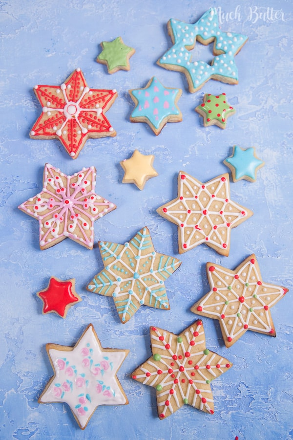 Christmas Star Sugar Cookies Much Butter