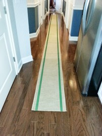 Runner for the BIG table - as you can see its pretty long.. I painted the stripes -