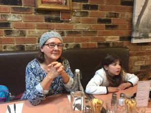 Grammy and Micaela at Olinda cafe
